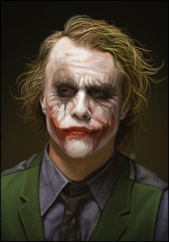 Heath Ledger's Joker by TovMauzer