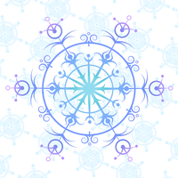 intricate snowflake - colour by papier-puppe