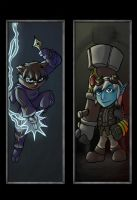 League of Legends: Kennen and Tristana Bookmarks by dragonsong12