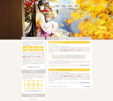 Free GPortal coded PSD Design - Anime by Aemy-neechan