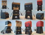 PaperCraft the dark knight and the arkham knight by future--art