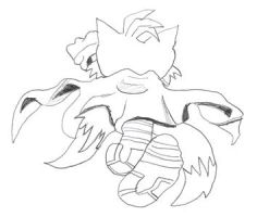Turbo Tails Backview Sketch by SonicXfan007