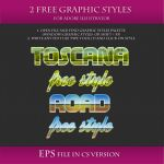 FREE Landscape Styles for Adobe Illustrator #2 by Love-Kay