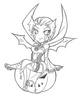 Elise halloween chibi [lineart] by SpigaRose