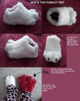 white fox fursuit feet paws by AlieTheKitsune