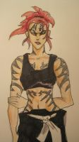 Grrl Renji with Tattoos by Junko222