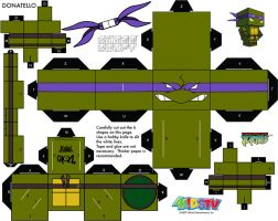 Donatello TMNT Cubee by etchings13