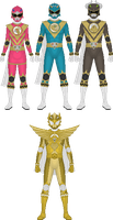 Commission: Genjyu Sentai Shinseiger pt. 2 by Taiko554