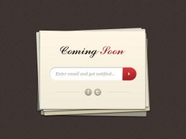 Coming Soon Page Template by freebiesgallery
