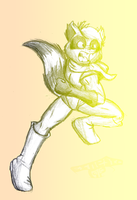 AT: Raccoon Hero MvC2 style by ErnestoGP