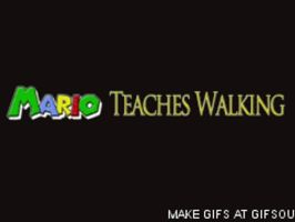 Smosh-Mario teaches walking -GIF- by BrookeCPhotography