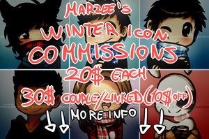 chocolath's Winter Icon Commissions! {OPEN} by miulk