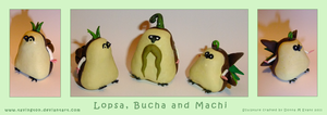 Lopsa, Bucha and Machi by tavington