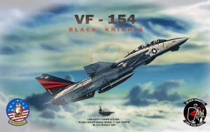 Black Knights (VF-154) by Distantstarr