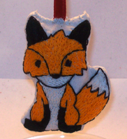 Embroidered fox ornament by randomproxy