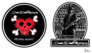 Dee Dee Ramone Stickers by Exidor02