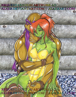 April as a Turtle with Don Hug by alaer