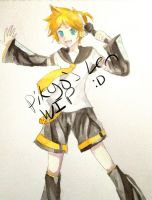 Coloring Len! by PikyoPocketNoses