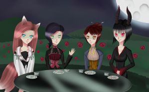 Tea Party of the non-human by Simpelen