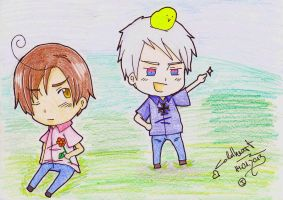 Chibiromano and Chibiprussia by Coldheart91