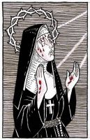 Nun With Stigmata by the-black-cat