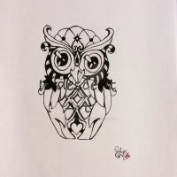 Owl Tattoo Design by IridescentArt1996