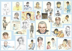 The many faces of Leonard Nimoy by AloiInTheSky