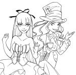 Alice and the Mad Hatter by Shakav088