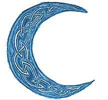 Blue Crescent Moon by EmilyRoseForReal