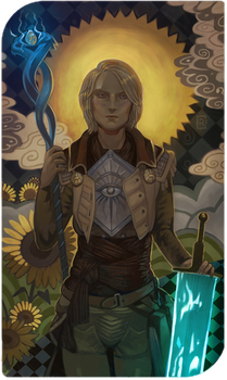 Commission Tarot card by creusa