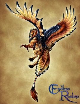 Endless Realms bestiary - Griffon by jocarra