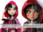 EAH cerise hood before and after by kamarza