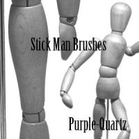Stick Man Brushes by Purple-Quartz-Brush