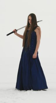 Blue Dress and Sword 20 by Lynnwest-Stock