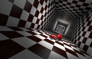 Depression (chess metaphors). 3D illustration. by grechka