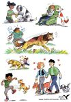 People and Dogs by rieke-b
