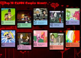 My Top 10 Favorite Canon Couples by Toongirl18