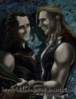 Thor and Loki - I miss you brother 2 by lokilaufeyson69