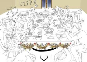 Thanksgiving WIP by GuardianOfShadows