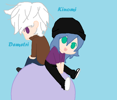 Kinomi and Demetri by bluemoonwarriorcat