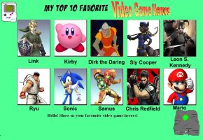 My top ten favorite video game heroes by porygon2z
