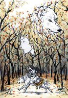 The White Wolf by kazenokibou