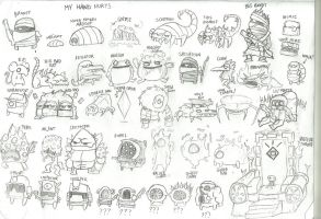 Nuclear Throne Enemies by LeatherIceCream