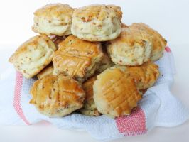 Hungarian Bacon-Ricotta Biscuits by Kitteh-Pawz