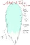 Adopt-A-Tail 002: Mint with White Tip (OPEN!) by Xecax