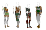 Leather Light Armor Outfit Adopts - 4 pack - SOLD by ShadowInkAdopts
