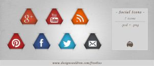 Triangle Social Icons Pack by DesignCauldron