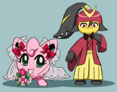 Amy and Ryoshi's Wedding Outfits by Galactic-Rainbow