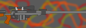 Merrick's 50 cal. Anti Material Rifle-FONV style- by RoninHunt0987