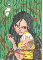 Disney's Pocahontas and Flit by Spinelie